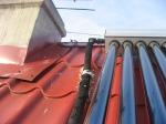 Трубопровод под каучуковой изоляцией с защитой из фольги